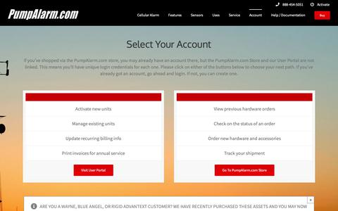 Screenshot of Login Page pumpalarm.com - Login - PumpAlarm.com - captured Sept. 30, 2018