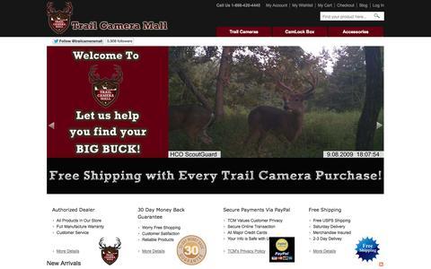 Screenshot of Home Page trailcameramall.com - Trail Camera Mall: Dealer trail cameras, game cameras, trail cams - captured Sept. 30, 2014