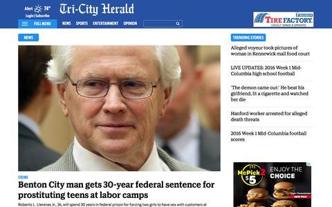 Screenshot of Press Page tri-cityherald.com - Latest Mid Columbia News | Tri-CityHerald.com & Tri-City Herald - captured Sept. 3, 2016