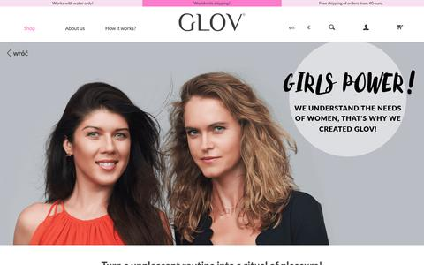 Screenshot of About Page glov.co - About us | GLOV official online store | Innovation in makeup removal & home spa - captured April 10, 2019
