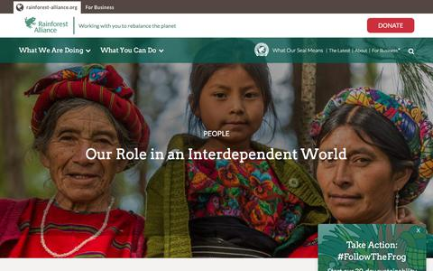 Screenshot of Team Page rainforest-alliance.org - People | Rainforest Alliance - captured Sept. 21, 2018