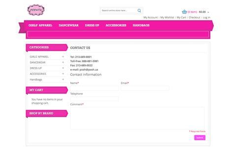 Screenshot of Contact Page popatu.com - Contact Us - captured March 12, 2016
