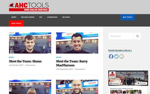 Screenshot of Blog ahctools.co.uk - AHC Tools- Blog – AHC Tools – the online resource for all your tool hire & rental needs - captured Oct. 7, 2017