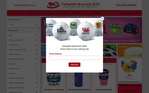 Screenshot of Home Page cbgltd.co.uk - Home :: Complete Business Gifts - captured Jan. 12, 2018