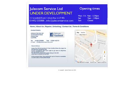 Screenshot of Contact Page julecomservice.com - Contact Us - captured Aug. 7, 2016