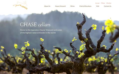 Screenshot of Home Page chasecellars.com - Homepage - Chase Cellars - captured July 17, 2019