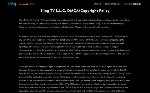 DMCA Policy | Sling TV