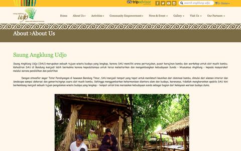 Screenshot of About Page angklung-udjo.co.id - About - WIT. Commerce - captured Nov. 19, 2016