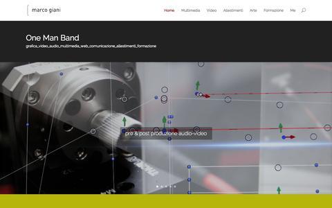 Screenshot of Home Page giani.biz - www.giani.biz | One Man Band - captured Oct. 4, 2014