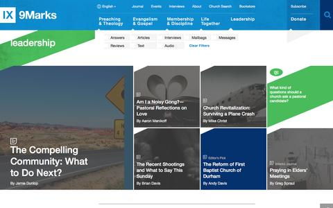 Screenshot of Team Page 9marks.org - Leadership : 9Marks - captured Aug. 11, 2016