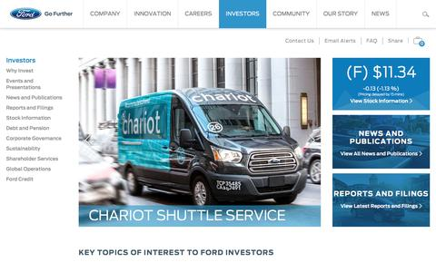 Screenshot of ford.com - Ford Motor Co. - captured April 22, 2017