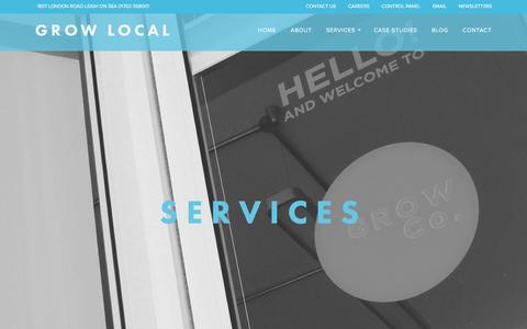 Screenshot of Services Page growlocal.co - Services | Grow Local - captured Dec. 9, 2015