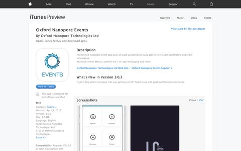 Oxford Nanopore Events on the App Store