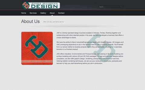 Screenshot of About Page jameshausman.com - JHD - Contact Us - captured Oct. 6, 2014