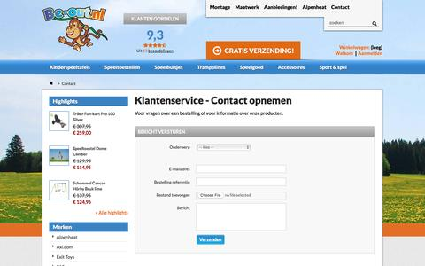 Screenshot of Contact Page be-out.nl - Contact - Be-out - captured Dec. 30, 2015