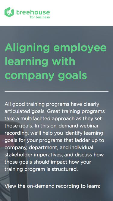 Aligning employee learning with company goals   Webinar