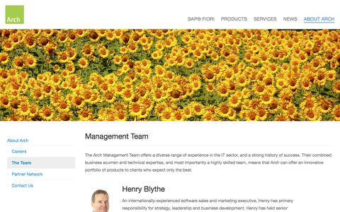 Screenshot of Team Page arch-global.com - About Arch | Team - captured July 13, 2019
