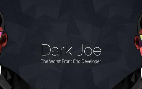 Screenshot of Home Page qabeaseman.com - Mr. Dark Joe - captured Oct. 25, 2018