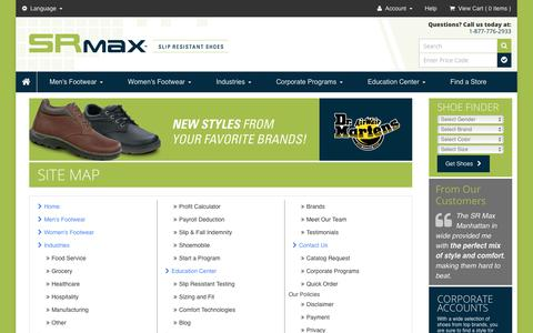 Screenshot of Site Map Page srmax.com - Site Map - captured Sept. 30, 2017