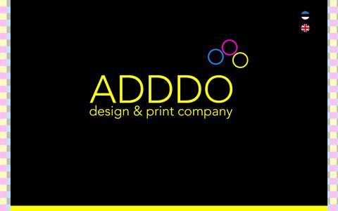 Screenshot of Home Page adddo.eu - ADDDO design & print company - captured Feb. 4, 2016
