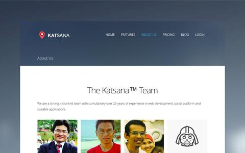 Screenshot of About Page katsana.com - About Us - Katsana GPS Tracking System Malaysia - captured Sept. 17, 2014