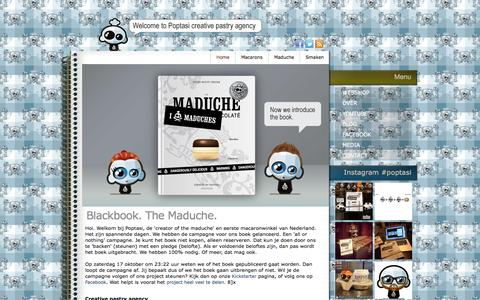 Screenshot of Home Page poptasi.com - Home - captured Sept. 10, 2015