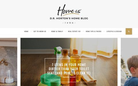Screenshot of drhorton.com - Home Is Blog | D.R. Horton's Home Blog - captured Sept. 30, 2018