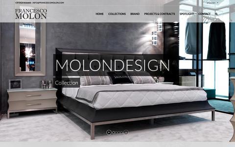 Screenshot of Home Page francescomolon.com - Italian luxury furniture   FRANCESCO MOLON - captured Nov. 14, 2018
