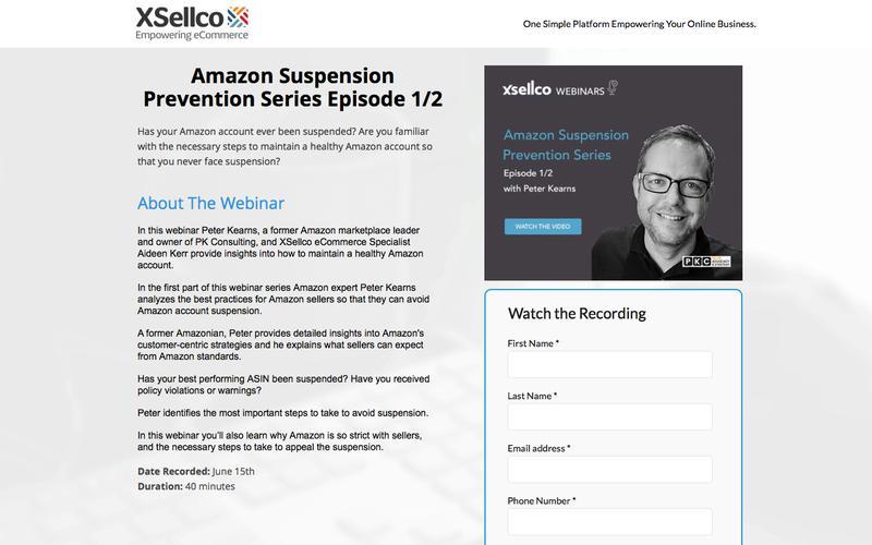 Amazon Suspension Prevention Series