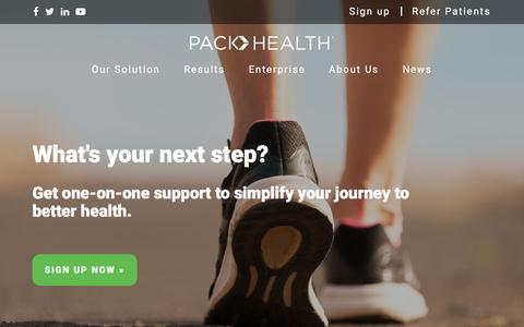 Screenshot of Signup Page packhealth.com - Sign up for Pack Health : Pack Health - captured May 13, 2017