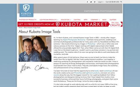Screenshot of About Page kubotaimagetools.com - About Kubota Image Tools and Meet The Action Hero Team | Kubota Image Tools - captured Sept. 23, 2014