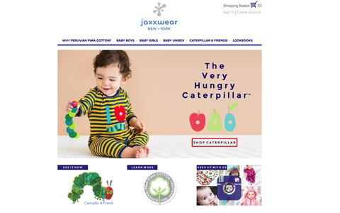 Screenshot of Home Page jaxxwear.com - Jaxxwear | A Perfect Start - captured Jan. 9, 2016