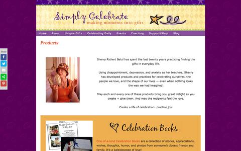 Screenshot of Products Page simplycelebrate.net - Products - captured June 19, 2017