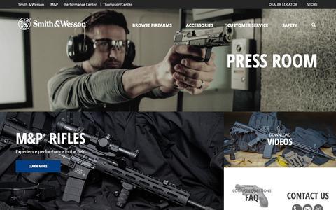 Screenshot of Press Page smith-wesson.com - Press Room   Smith & Wesson - captured Nov. 16, 2018