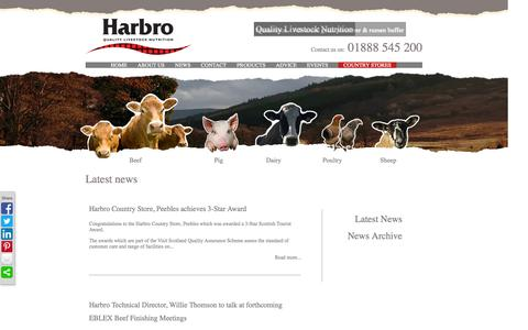 Screenshot of Press Page harbro.co.uk - Harbro: Quality Livestock Nutrition - News - captured Oct. 1, 2014