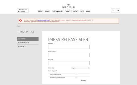 Alerts | Kering