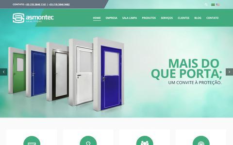 Screenshot of Home Page Team Page asmontec.com.br - Asmontec - 22 Anos Atuando com Produtos para Sala Limpa - captured Oct. 4, 2018