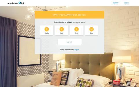 Screenshot of Signup Page apartmentlist.com - Apartment List -  Create your renter profile - captured Nov. 4, 2017