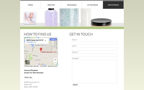 Screenshot of Privacy Page yecosmetics.com - Contact Us - captured Feb. 3, 2016
