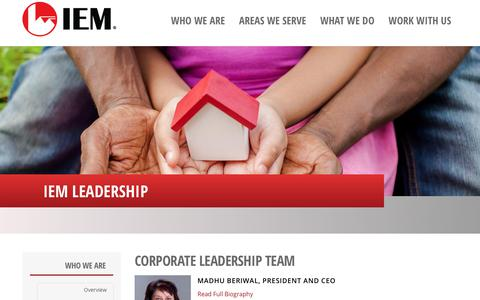 Screenshot of Team Page iem.com - Leadership – IEM - captured Aug. 10, 2019
