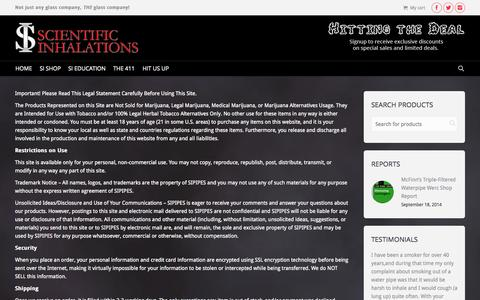 Screenshot of Terms Page sipipes.com - SIpipes | Terms of Service  - SIpipes - captured Nov. 2, 2014