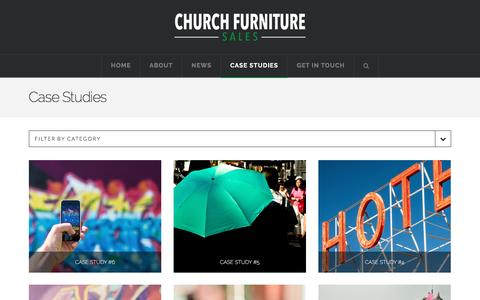 Screenshot of Case Studies Page churchfurnituresales.com - Case Studies | Church Furniture Sales - captured May 17, 2017