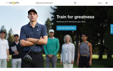 Screenshot of Home Page cbtnuggets.com - CBT Nuggets - captured June 7, 2018