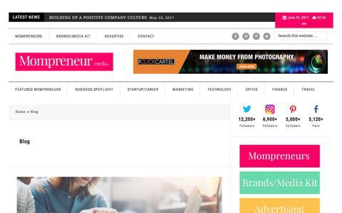 Screenshot of Blog mompreneurmedia.com - Blog Archives   Mompreneur Media - captured June 29, 2017
