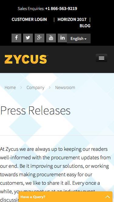 Press Releases - Zycus