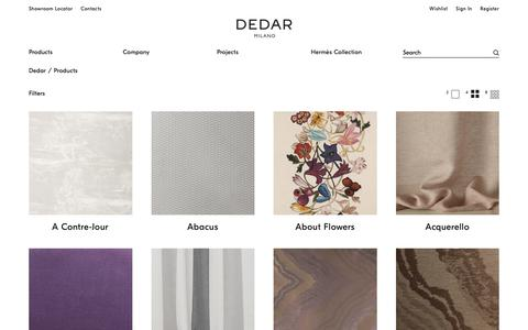 Screenshot of Products Page dedar.com - Products – Dedar Milano - captured Nov. 6, 2018