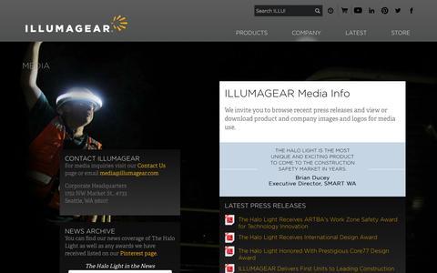 Screenshot of Press Page illumagear.com - Media - ILLUMAGEAR - captured Sept. 30, 2014