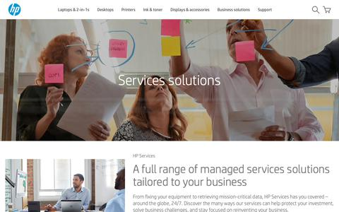 Screenshot of Services Page hp.com - Services solutions | HP® Official Site - captured Nov. 13, 2018
