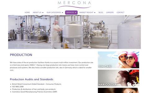 Screenshot of Services Page mercona.com - Production -Mercona - captured Oct. 27, 2014