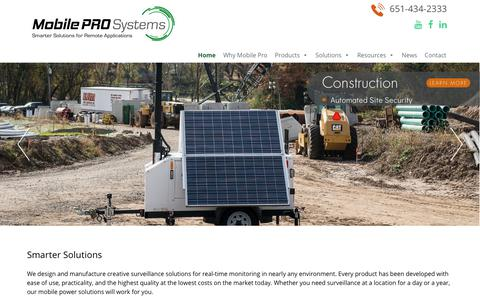 Screenshot of Home Page mobileprosystems.com - Mobile Pro Systems | Mobile Pro Systems - captured Sept. 21, 2018